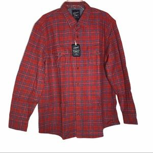 Grayers Heritage Flannel- Orange-red, Blue &White